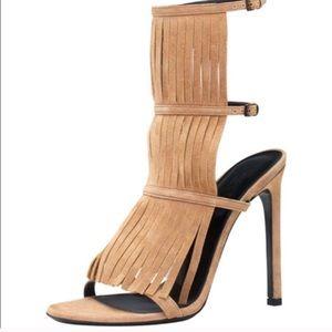 Gucci suede fringe heels